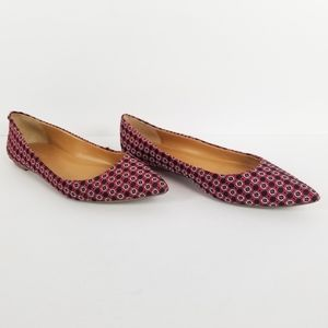 J. Crew Factory Fabric Pointy Flats 7